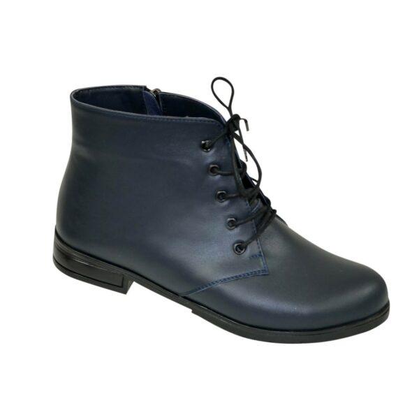 Ботинки женские кожаные на шнуровке