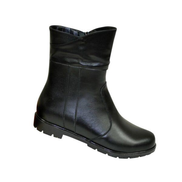 Кожаные демисезонные женские ботинки на низком ходу