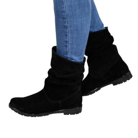 Женские замшевые ботинки зима осень, свободного одевания