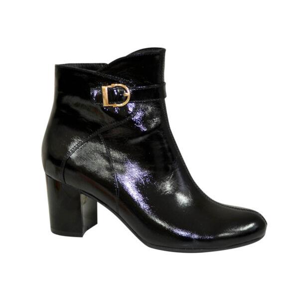 Ботинки женские черные демисезонные на невысоком каблуке