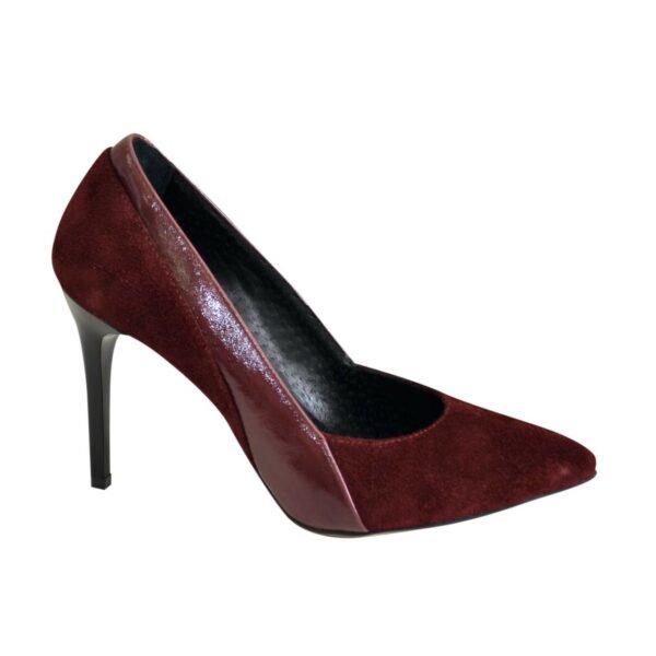 Классические женские туфли на шпильке, цвет бордо