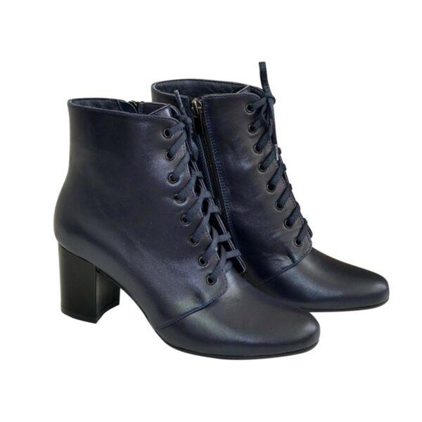 Ботинки женские кожаные зимние на устойчивом каблуке