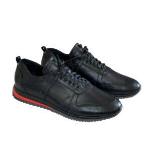 Кроссовки мужские кожаные на шнуровке