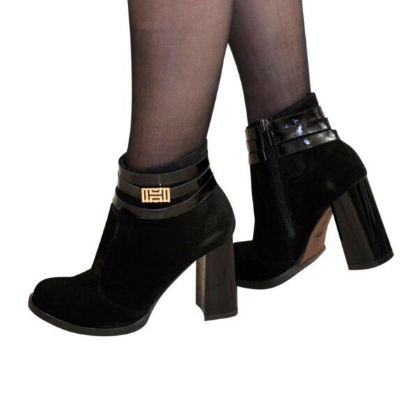 Ботинки демисезонные женские замшевые на устойчивом каблуке,37 размер