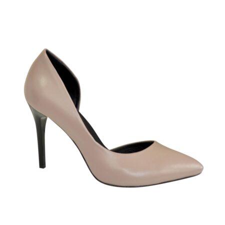 Туфли женские на шпильке из натуральной кожи цвет визон