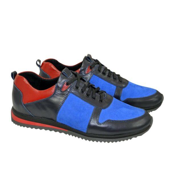 Кроссовки мужские комбинированные на шнурках