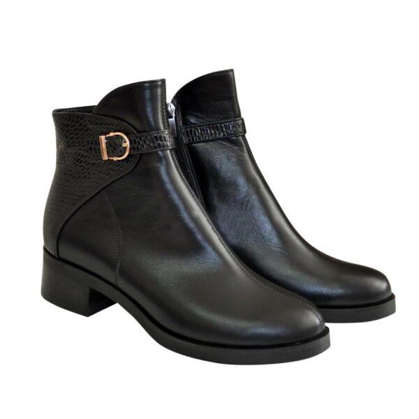 Ботинки женские демисезонные на маленьком каблуке