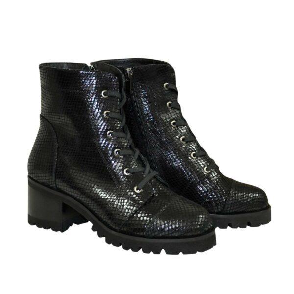 Ботинки женские замшевые демисезонные на невысоком устойчивом каблуке