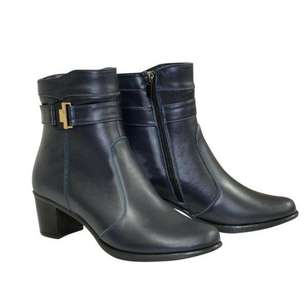 Женские классические демисезонные полуботинки на невысоком каблуке, цвет синий
