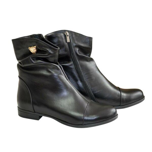 Ботинки женские демисезонные кожаные на низком ходу