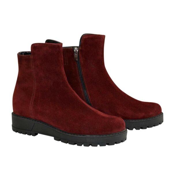 Ботинки женские замшевые зимние на утолщенной подошве