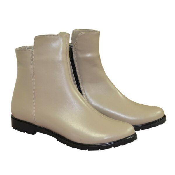 Ботинки женские кожаные демисезонные на низком ходу, цвет визон