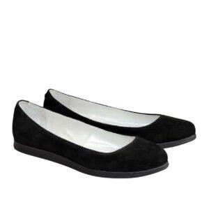 Туфли женские, на низком ходу, черный замш