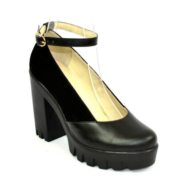 Женские туфли на тракторной подошве, натуральная кожа и замша