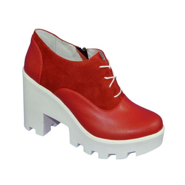 Женские стильные туфли на шнуровке, высокий каблук