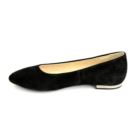 Туфли-Балетки из натурального замша,на изящной черной подошве