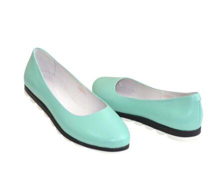 Женские туфли/балетки из натуральной кожи на низком ходу/ цвет мята