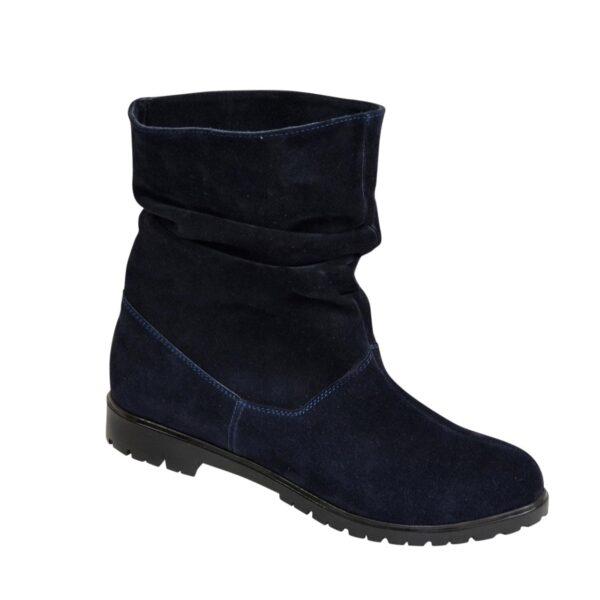 Ботинки синие женские замшевые демисезонные свободного одевания