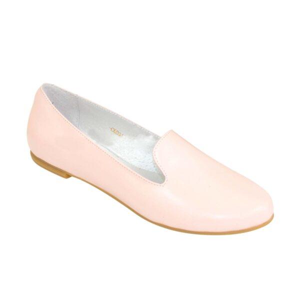 Туфли-мокасины женские кожаные на низком ходу