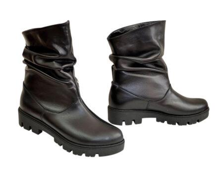 Кожаные женские ботинки свободного одевания, зима осень