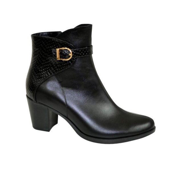 Ботинки женские зимние на невысоком каблуке