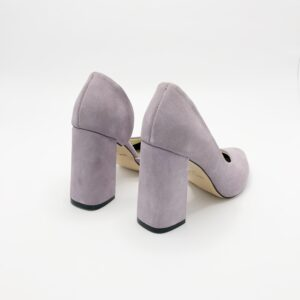 Туфли женские на высоком каблуке замшевые, цвет лаванда