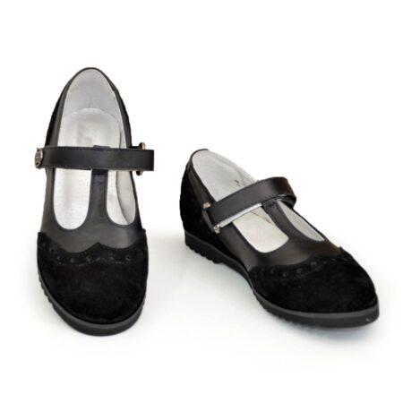 Красивые туфли для девочек, натуральная кожа и замша