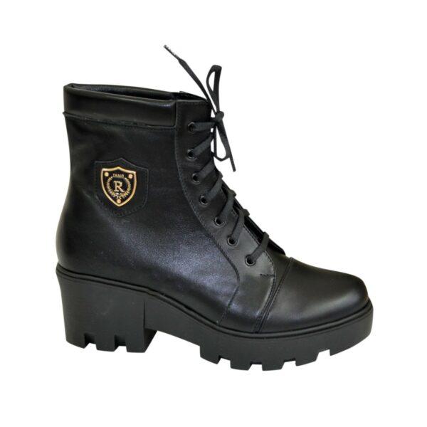Ботинки женские зимние на утолщенной подошве, цвет черный