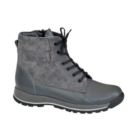 Ботинки для мальчиков серые подростковые на утолщённой подошве