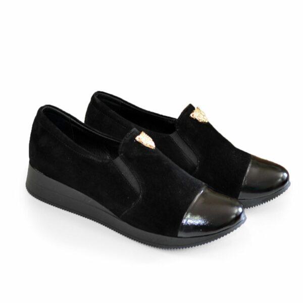 Женские замшевые туфли на утолщенной подошве
