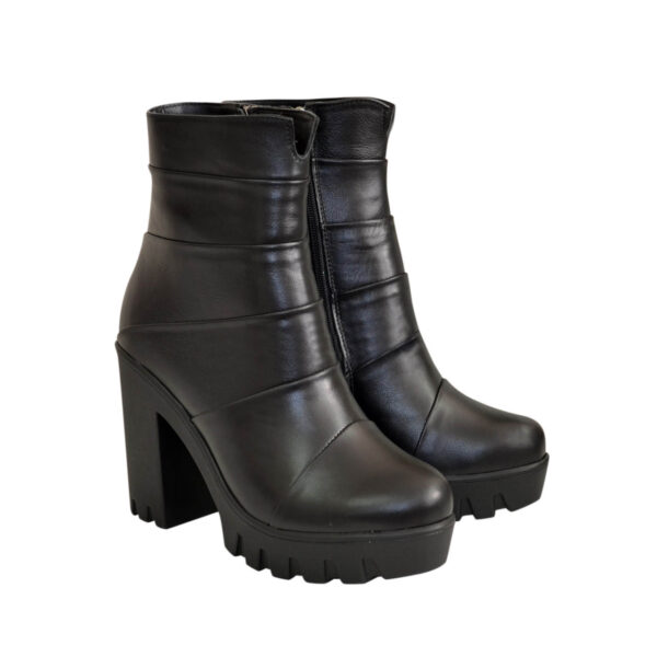 Женские зимние ботинки на тракторной подошве, натуральная кожа