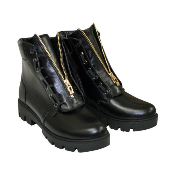 Ботинки женские зимние кожаные на низком ходу