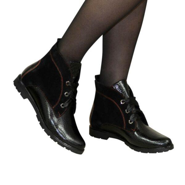 Ботинки женские демисезонные комбинированные на низком ходу