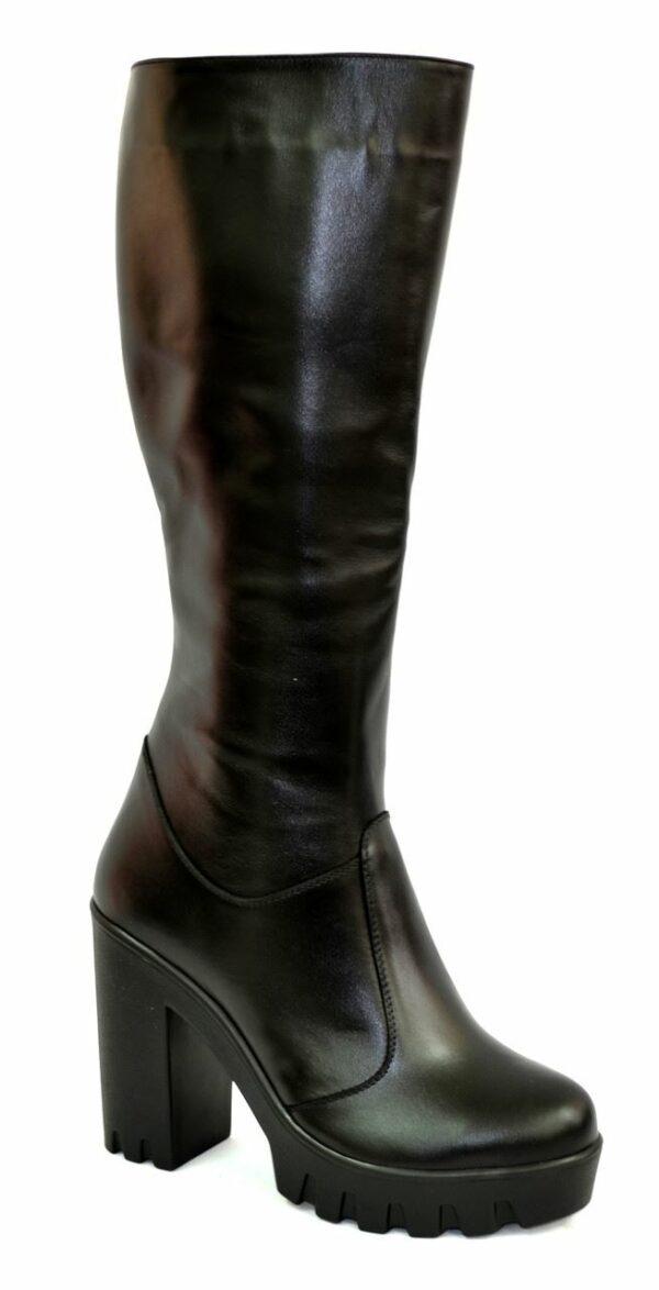 Сапоги женские демисезонные на высоком каблуке