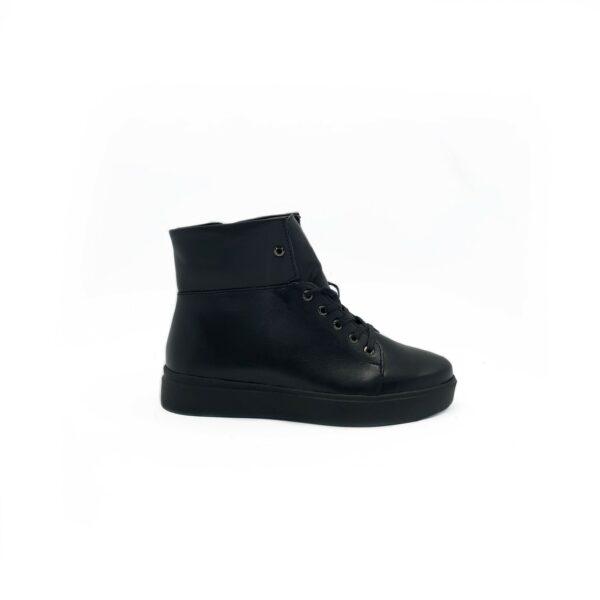 Женские кожаные ботинки на сплошной утолщенной подошве