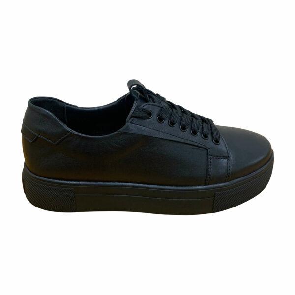 Кроссовки женские кожаные черные