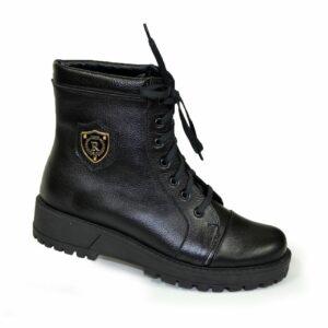 Ботинки женские зимние на шнуровке, натуральная кожа флотар